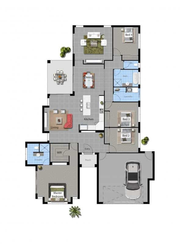 Barwon david reid homes for Orleans home builders floor plans