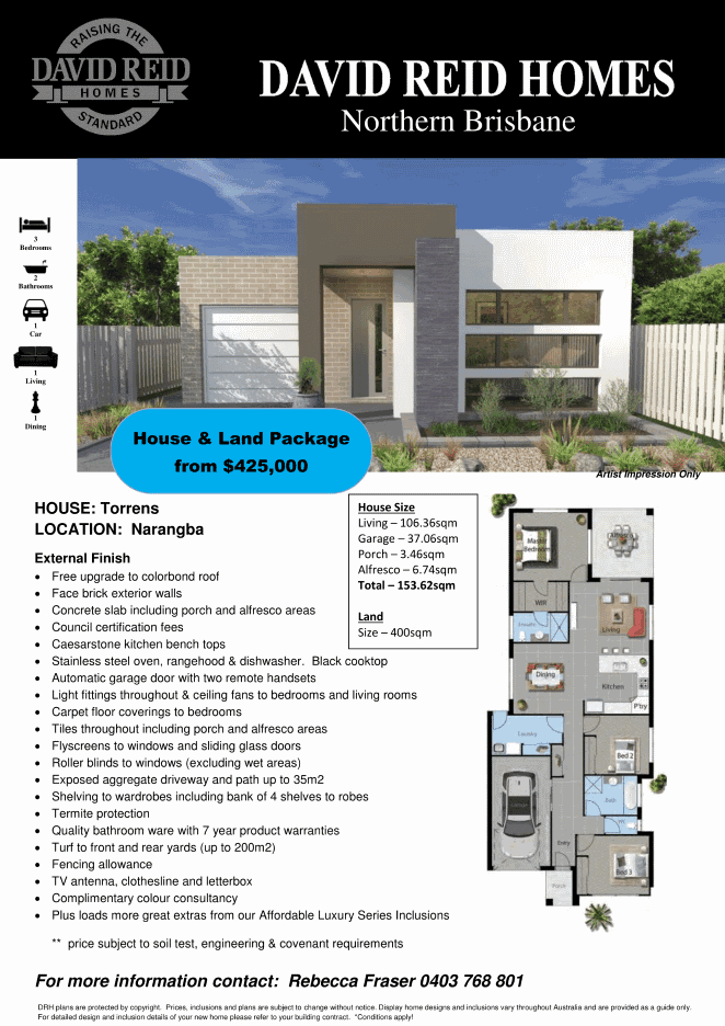 House and Land Packages Brisbane Torrens Design